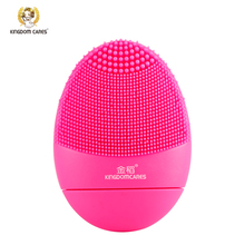 KINGDOM CARES Facial Cleansing Brush Sonic Vibration Mini Face Cleaner Silicone Deep Pore Cleaning Electric waterproof Massage(China)