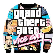Harajuku Hoodies And Sweatshirt Unisex Fashion Gta Vice City Print 3D Pullover Moleton Masculino Long Sleeve Streetwear Clothing(Hong Kong)