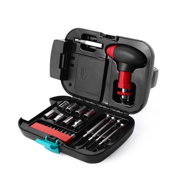 Portable Multi-Functional 24 In 1 Screwdriver Socket Set Hardware Tools Set With Light Household<br>