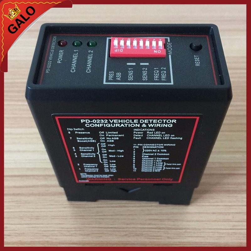 Gate vehicle access control dual two Channel Loop Detector/Inductive Loop Parking Detectors220v 110V 24V DC 12V Dc<br>