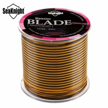 SeaKnight Brand Blade 500m Nylon Fishing Line Durable Monofilament Strong Quality Multi Color Mono Nylon Fishing Lines 8-25LB