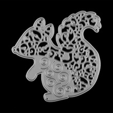 Nice Flowers Squirrel Cutting Dies Stencil Paper Card Album Craft for DIY Scrapbooking