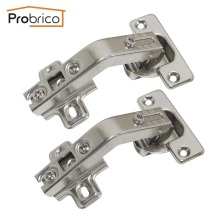 Probrico 4 Pair Kitchen Cabinet Folding 135 Degree Hinge CHG135 Full Overlay Furniture Concealed Combination Cupboard Door Hinge(China)