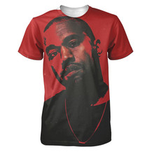 Real American size  kanye west 3D Sublimatin print  high quality T-shirt Custom Made Clothing plus size