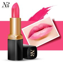 Brand Gentle Texture Long Lasting Women Moisturizing Lip Stick Waterproof Lady Lip Makeup Cosmetic Bright Color Lipstick