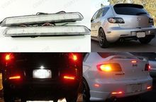 For Mazda3 Axela CLEAR Lens Bumper Reflector LED Backup Tail Brake Light For Mazdaspeed3 04-09