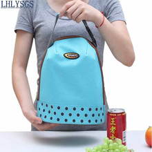 LHLYSGS Brand Fresh Keeping Women thermal lunchboxes Insulated Lunch Bag Hand Carry Thickened Tin Foil Insulation Cooler Bag