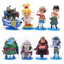 Anime One Piece Toys The fish men island Luffy Zoro Jinbe Hordy Jones PVC Figures 8cm 8pcs/set OPFG416(China)