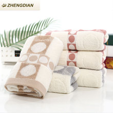 Zhengdian new 100% Cotton Hand Face Dot Towels Bathroom Beach Fast Drying Soft Absorbent Air permeability toalhas For Adults