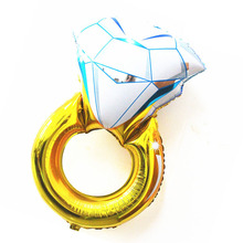 30 inch big size baloon engagement anniversary valentines decoration wedding party bride diamond ring balloons