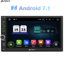 Pumpkin 2 Din Android 7.1 Univeral Car DVD Player GPS Navigation Car Stereo FM Rds Map Wifi Radio 3G USB Bluetooth Headunit(China)