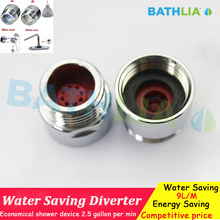 "Bathroom Accessories 1/2"" Shower Water Diverter Flow Regulator Restrictor Suit for Any Shower Hose Brass material Chrome finish"