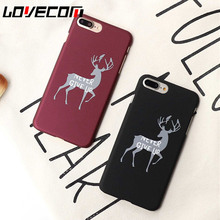 Buy Fashion Letter 'Never Give UP' Elk Print Phone Case iPhone 5 5S SE 6 6S 6Plus 7 7Plus Matte Hard PC Back Cover Coque Fundas for $1.30 in AliExpress store