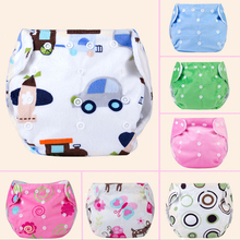 Hot sale Baby Waterproof Washable Diaper Soft Thickened Adjustable Underwear Reusable Nappy for 0-12months Newborn baby(China)