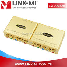 LINK-MI LM-COVSAB Component Video/Stereo Audio Balun Extender Support 720p/1080i/p Up to 500ft/152m Via Cat5e/6