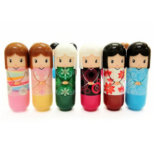 Cute Japanese Doll Clear Moisturizing Repair Lip Balm Lip Protector Lipstick