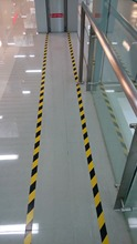 Corridor Door Fire Warning Safety Line Self-adhesive Tape Road Isolation Alert Floor Sticker(China)