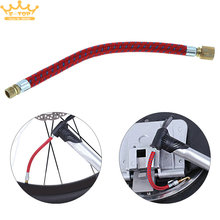 Portable 17cm MTB / Road Bicycle Pump Inflator Schraeder Valve Extension Tube(China)