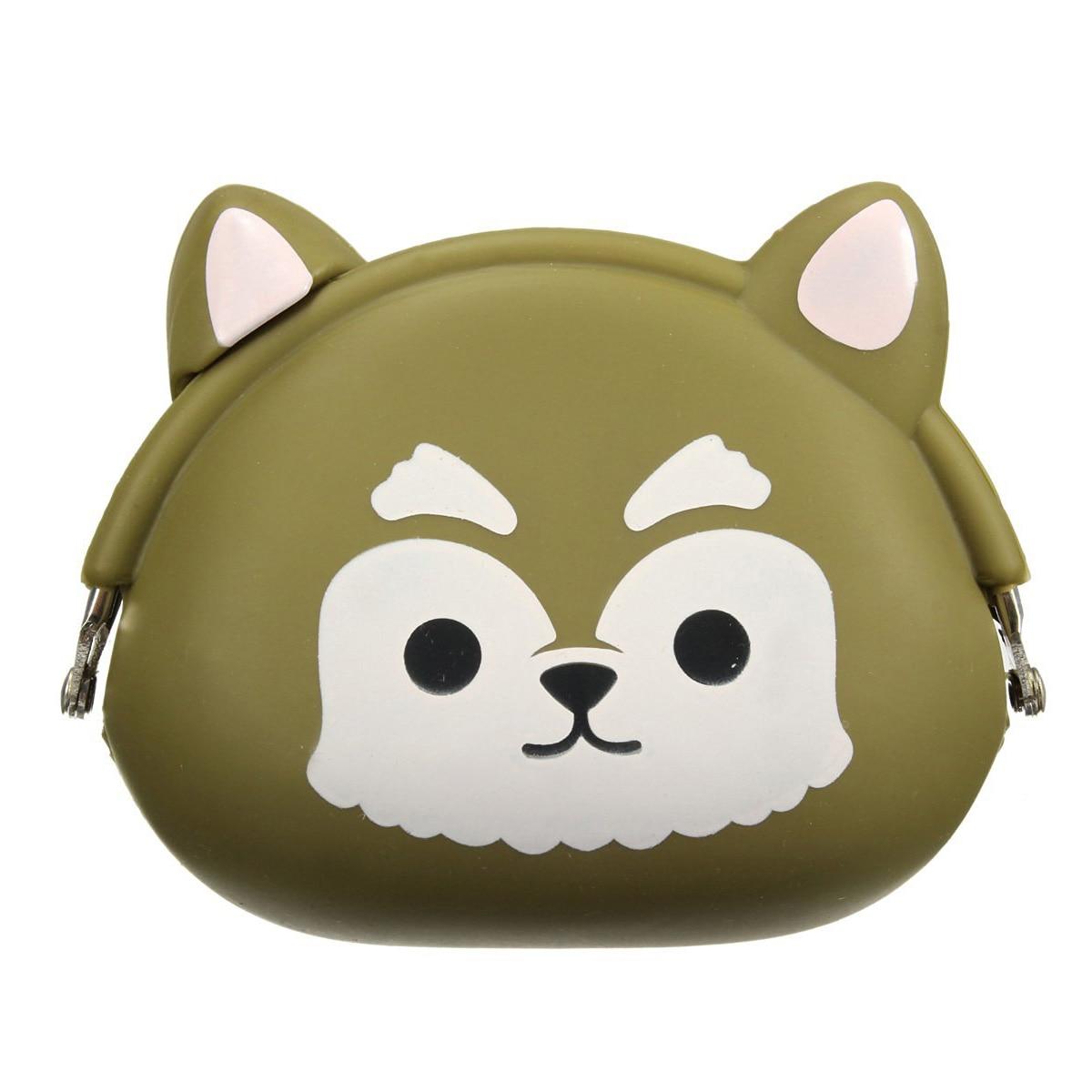 SCYL Women Girls Wallet Kawaii Cute Cartoon Animal Silicone Jelly Coin Bag Purse Kids Gift Green dogs<br><br>Aliexpress