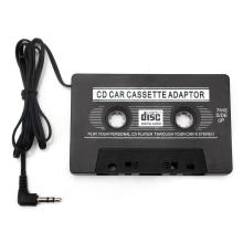 New 1pcs  Audio Car Cassette Tape Adapter Converter 3.5 MM For Iphone Ipod MP3 AUX CD Wholesale