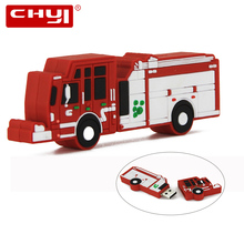 CHYI New Arrival Car USB Flash Drive Pen Drive Cartoon Red Truck Design Memory Stick 4GB 8GB 16GB 32GB 64GB Pendrive U Disk