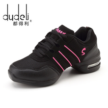 DUDELI 새 Soft Outsole 숨 춤 Shoes Women 스포츠 Feature 춤 Sneakers Jazz Hip 홉 Shoes Woman 춤 슈 Zapatos(China)
