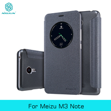 Sparkle Leather Case For MEIZU M3 Note NILLKIN Super Thin Flip Leather PC Back Cover Case Window Design With Retail Package Gift