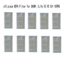 10 pcs HEPA Filter for vacuum cleaner CHUWI ilife v5s ilife v5 pro V3 V3+ v5pro ilife x5 robot vacuum cleaner parts