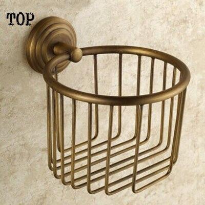 European toilet paper box archaize toilet tissue box All copper top paper holder bathroom toilet paper basket<br>