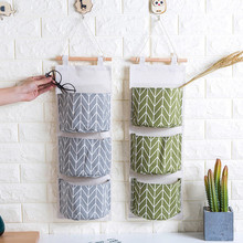 Wall Mounted 3 Bags Storage Bag Kitchen Supplies Fluid Systems Multilayer Bags kitchen Hanging Bag stroage Organizer(China)