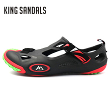 2017 Spring Autumn Men Sandals Slippers Summer Men Flat Shoes Beach Slippers Sandals Comfortable Outdoor Walking Shoes Casual(China)