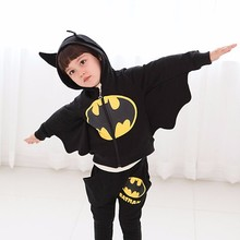 New Designer Kids Batman Clothing Set Toddler Girls Boys Hooeded Jacket+ Pants Suit Set Children Batman Sport Suits Boys Clothes