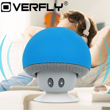 Wireless Bluetooth Speaker Mini Cute Mushroom Style Music Player Stereo Portable Speaker Loudspeaker with Suction Cup(China)