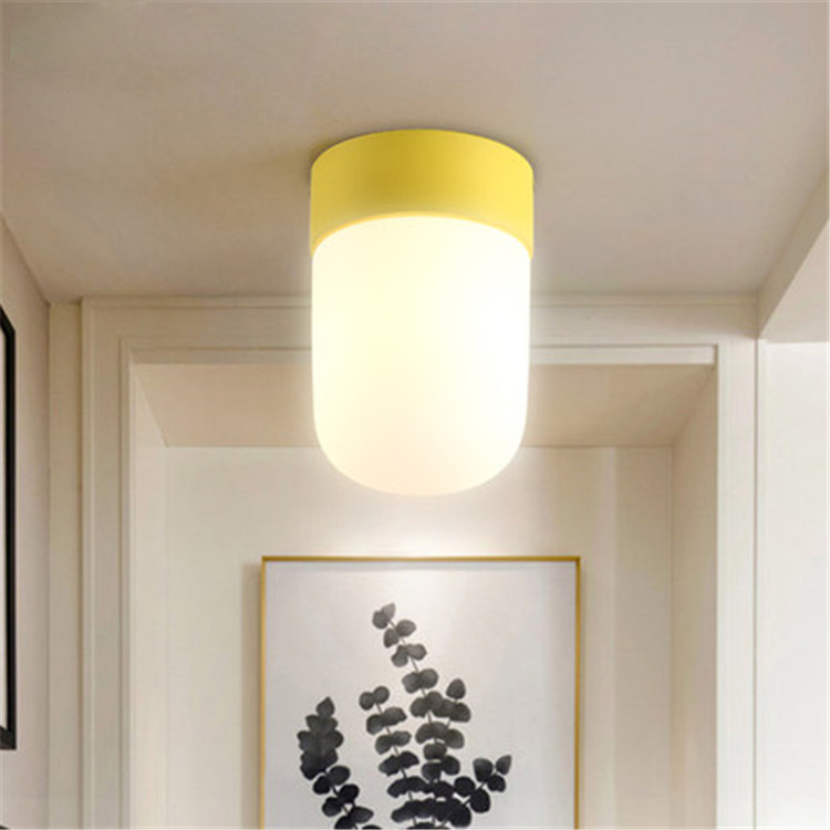 Artpad Modern Pendant Ceiling Lamps Glass Lampshade E27 Metal LED Ceiling Light for Living Room Kitchen Balcony Aisle Porch <br>