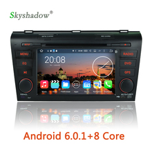 HD 1024*600 Android 6.0 Octa Core 2G RAM Car DVD Player GPS Map RDS Radio wifi 3G For Mazda 3 2003 2004 2005 2006 2007 2008 2009