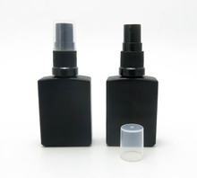 12 x 30ml New Frost Black Glass Perfume Bottle 1oz Empty Glass Perfume Atomizer