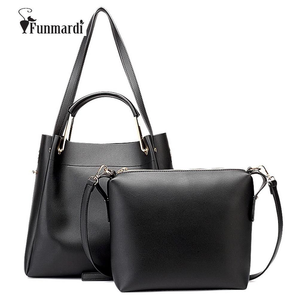 Funmardi Fashion PU leather women handbag star style women bag brand designs female bags Trendy Handbag+Messenger Bag WLHB1500<br>