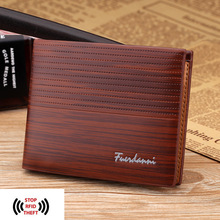 Buy RFID Blocking New Men's Wallets Antimagnetic 3 Folds Black Samll Zipper Coin Pocket ID Card Holder Purse for $7.29 in AliExpress store