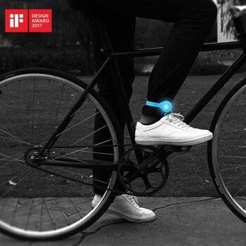 ROCKBROS IF Design Award VTT Route Vélo LED Flash de lumière Imperméable Vélo Vélo Avertissement Feu arrière Pantalon Clip Spiritualité Ceinture