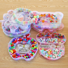 DIY Bracelet Acrylic loom bands Bead set Accessories Girl Toys Mixed Kids Beads with Box, Beads for Children BDH(China)