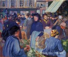 oil landscape paintings The Market at Gisors by Camille Pissarro art Handmade High quality