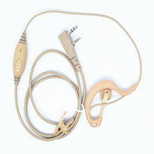 OPPXUN yellow Headset Earpiece Transceiver Earphone Microphone for puxing PX777 PX888 PX680 TYT UV8000D Baofeng UV-5R(China)