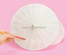 Blank unpainted Chinese traditional craft oil paper umbrella party kids DIY kits favor school kindergarten chiid paint coloring