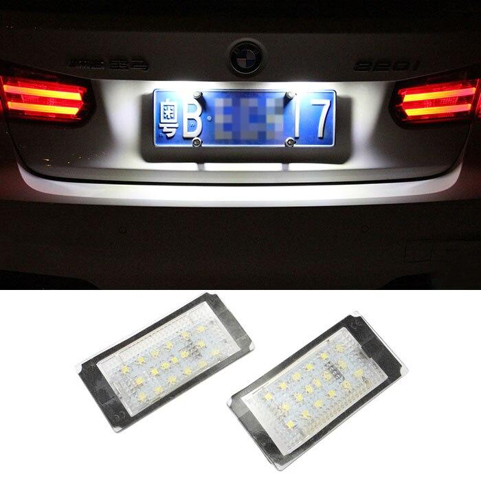 2pcs White Car LED Number License Plate Light Frame Lamp Bulb 18 LED For BMW E46 2D M3 1998-2003<br><br>Aliexpress