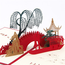 Custom Red Valentines Day Gift For Men & Women Handmade 3D POP Up Greeting Cards(China)