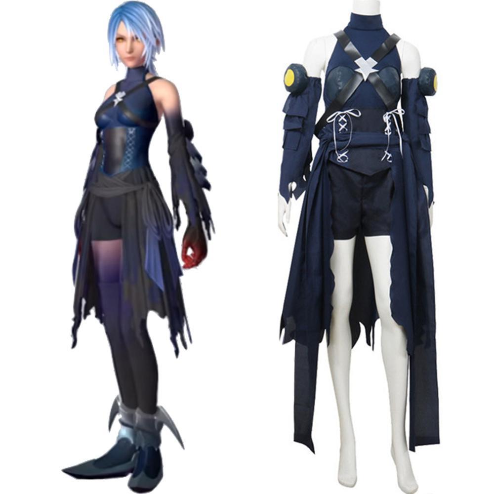 Hot! Kingdom Hearts Birth By Sleep Aqua Cosplay Costume Uniform