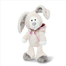 35cm Factory direct sale Wholesale NICI standing wear clothes snow rabbit for birthday gift 1pcs(China)
