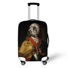 Prevent the impact to prevent scratches Irony Terrorism Theme pattern luggage case travel must be soft and durable non-slip