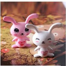 2pcs/set Cute mini rabbit Micro landscape decoration Baby toys gift Animal model
