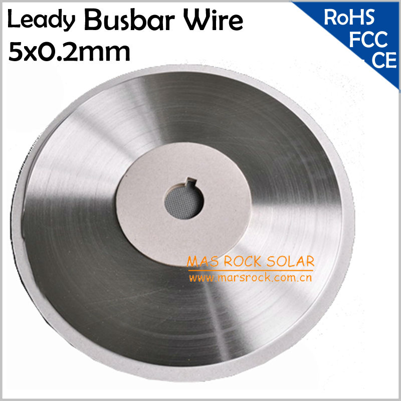 1 Roll 130meters (426 feet) Leady Solar Busbar Wire 5x0.2mm, Solder Connection Wires 5mm,Solar Busbar Wire for Solar Cell Solder<br><br>Aliexpress